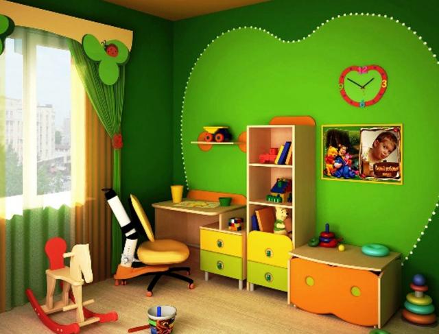 игровая зона детской комнаты