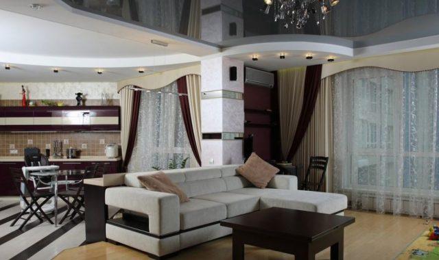 Разделение комнаты на кухню и гостиную
