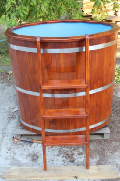 Купель для бани из лиственницы