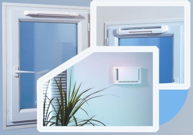 Клапан приточный на окна ПВХ - внешний вид